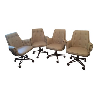 Vintage Swivel Arm Chairs- Set of 4