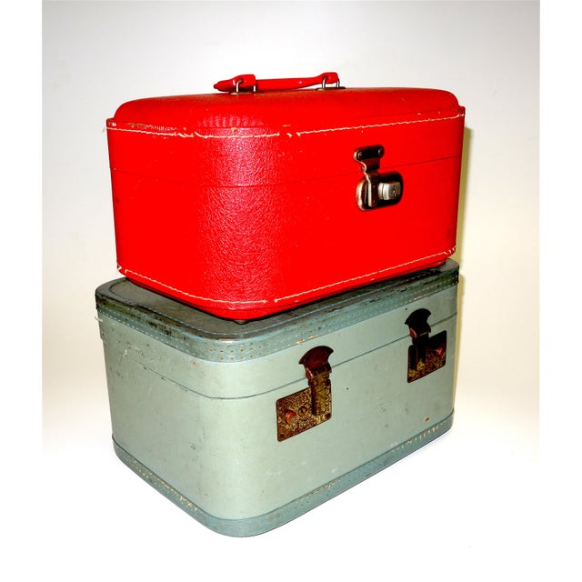 Pair of Mid 20th Century Luggage Set For Sale - Image 13 of 13