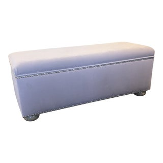 Contemporary Ballard Designs Lavendar Storage Bench For Sale