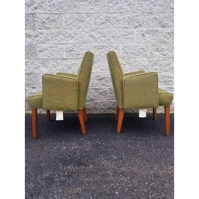 Mid Century Modern Green Lounge Chairs by Milwaukee Chair Company - Pair For Sale - Image 4 of 9