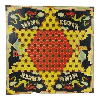 Vintage Ming Check Game Board For Sale