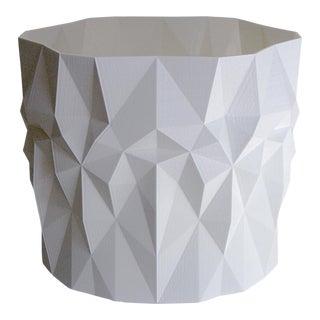 Geometric Modern White Triangle Facet Planter