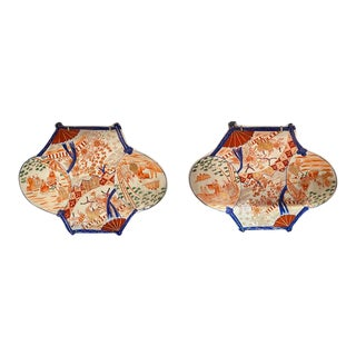 Antique Imari Porcelain Plates - a Pair For Sale