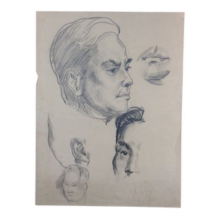 Portrait Studies of Men 1930s For Sale