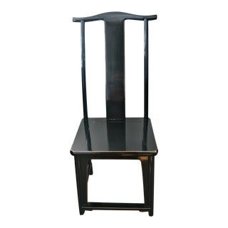 Modern Asian High Back Dining Chair For Sale