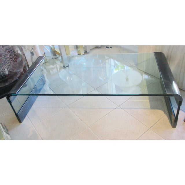 Transparent 1970s Pace Collection Waterfall Coffee Table by Leon Rosen For Sale - Image 8 of 8
