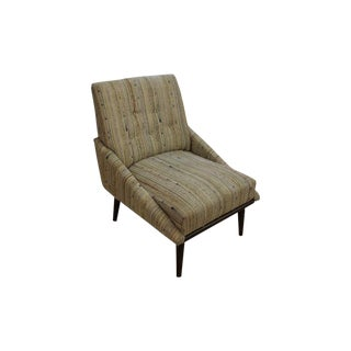 Mid-Century Modern Tweed Accent Chair For Sale