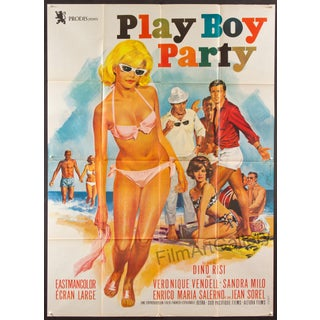 Vintage 'Play Boy Party' Large French Poster For Sale