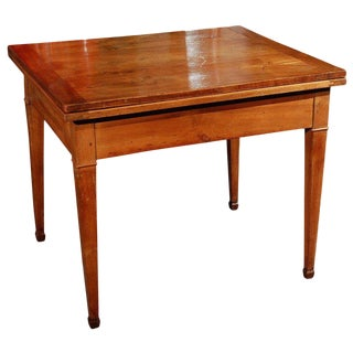 1860s French Rectangular Cherrywood Extension Table For Sale