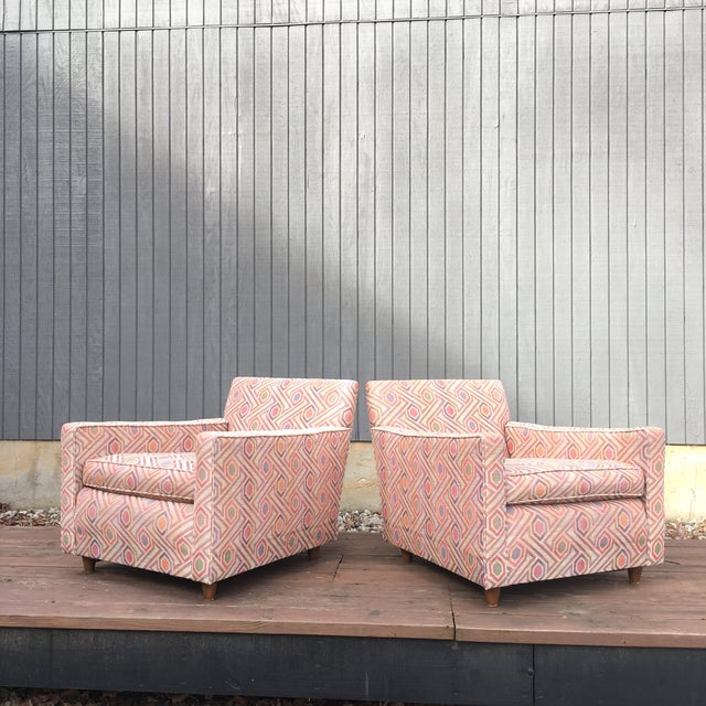 Vintage Mid Century Modern Club Lounge Chairs- A Pair For Sale - Image 11 of 12