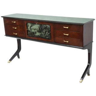 Art Deco Style Italian Rosewood Bar Buffet For Sale