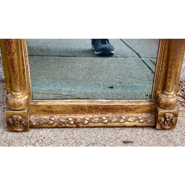 Early 19th Century Early 19th C. Gilt Wall Mirror For Sale - Image 5 of 7