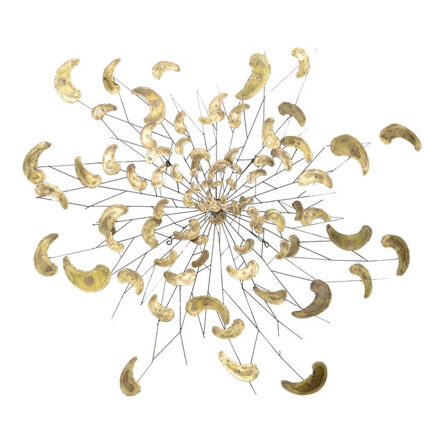 Large Brass and Metal Wall Art, Wall Sculpture - Image 1 of 8