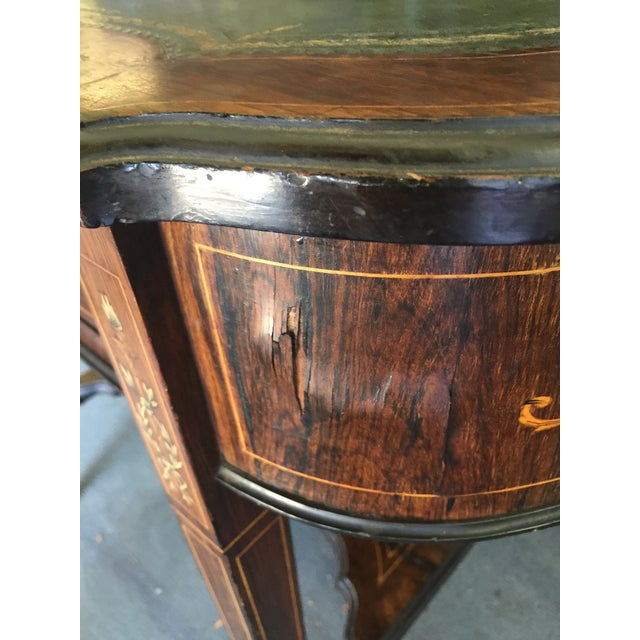 Animal Skin Inlaid Edwardian Desk For Sale - Image 7 of 13