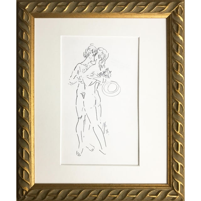 Abstract Figurative Nude Drawing of Couple by Richard Ericson For Sale In New York - Image 6 of 6