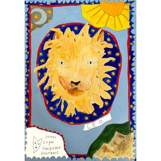 """""""Leo Horoscope"""" Contemporary A4 Giclée Print For Sale"""