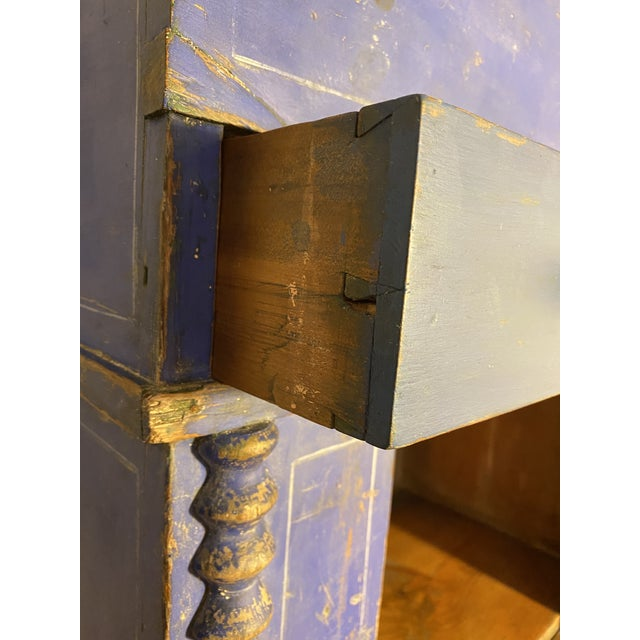Blue Antique Swedish Commode or Chest With Original Paint For Sale - Image 8 of 13