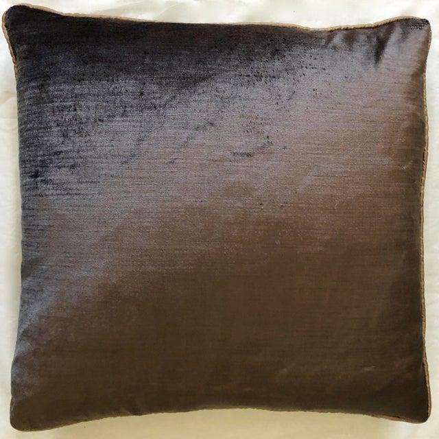 19th Century Dark Grey Velvet Pillow For Sale - Image 4 of 11