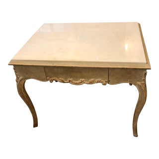 Antique Hideaway House Beverly Hills Marble Top Nightstand End or Side Table For Sale