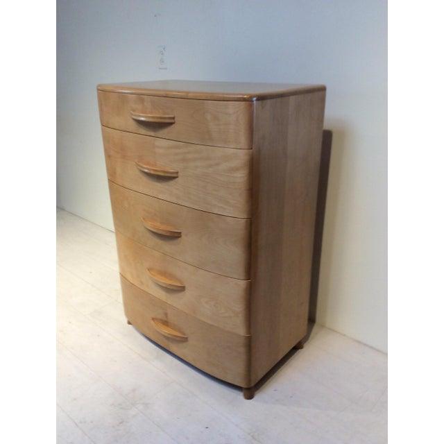 1940s Heywood Wakefield Mid-Century Modern Crescendo Highboy Dresser For Sale - Image 9 of 10