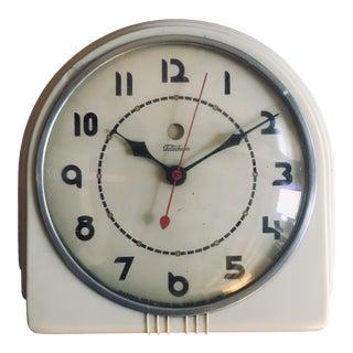 "1930s Vintage Leo Ivan Bruce Art Deco ""Buffet"" Telechron Wall Clock For Sale"