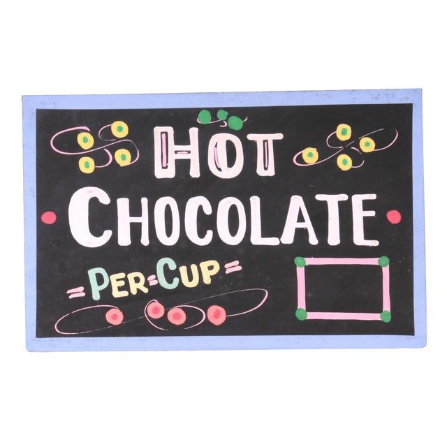 Hot Chocolate Sign For Sale