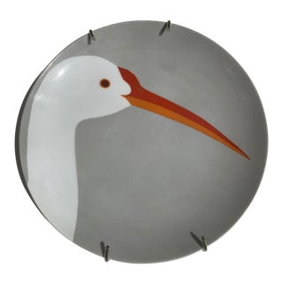 Vintage 1977 Fitz and Floyd 'Birds of a Feather' Heron Salad Plate For Sale