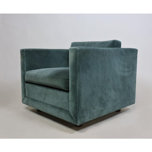 Mid-Century Modern Mid-Century Modern Wormley Probber Style Cube Lounge Chair For Sale - Image 3 of 12