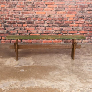 Narrow Antique Green Painted Pine Bench Preview
