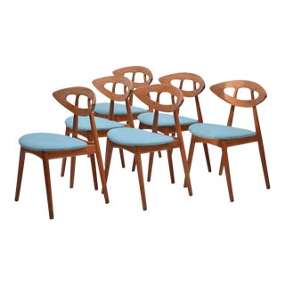 Eye Chairs by Ejvind a Johansson for Ivan Gern, Set of 6, 1961 For Sale