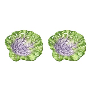 Cabbage Leaf Bowl in Purple, Set of 2 For Sale