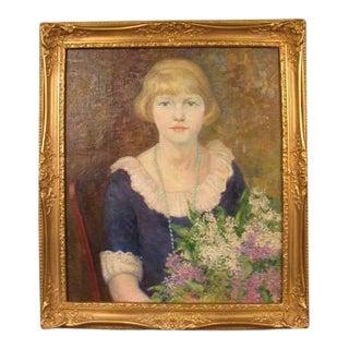 19th Century Self Portrait of the Artist Jessie Goodwin Preston For Sale