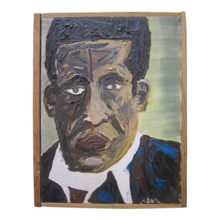 Self Portrait of Man Painting by John Kerry Roberts For Sale