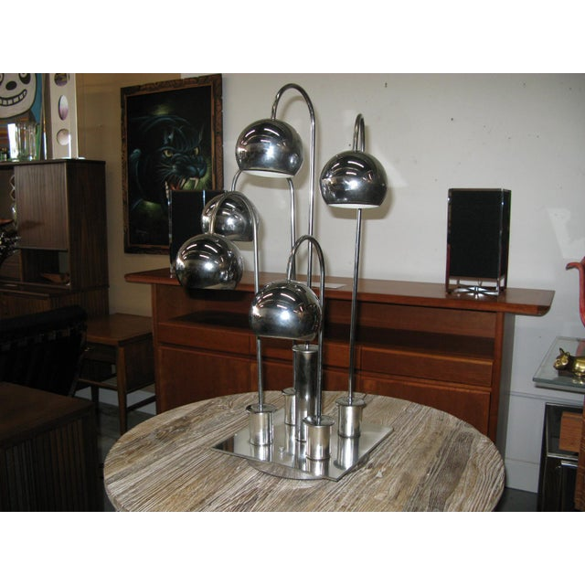 Robert Sonneman Chrome Ball Waterfall Lamp - Image 3 of 11