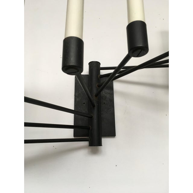 Black Lightolier Eight Arm Sconce For Sale In Los Angeles - Image 6 of 9