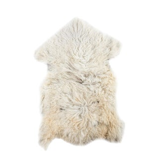 "Contemporary Natural Wool Sheepskin Pelt - 2'0""x3'0"""