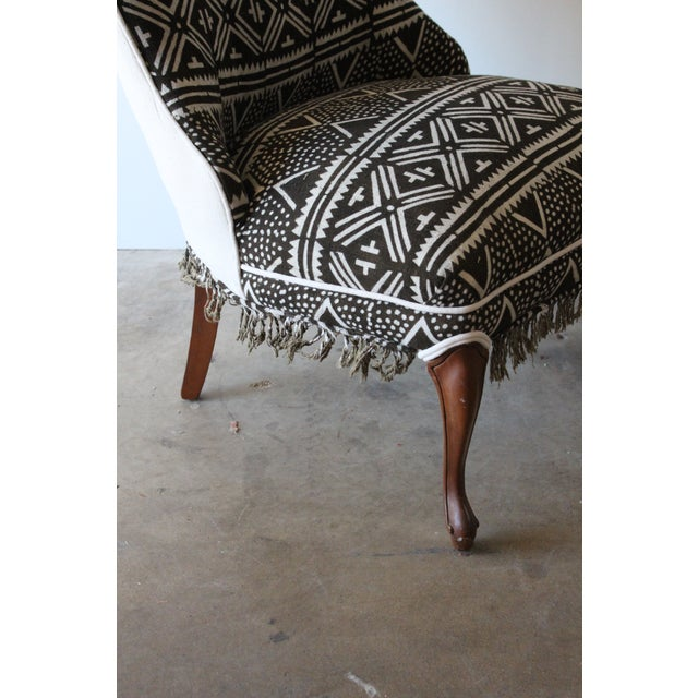 Vintage African Mudcloth Chairs - A Pair - Image 6 of 9