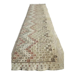 "Vintage Turkish Natural Kilim Runner-2'9'x10'11"" For Sale"