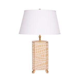 Dana Gibson Taupe Crocodile Table Lamp