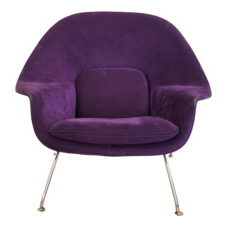 Mid-Century Modern Authentic Eero Saarinen for Knoll Purple Womb Chair For Sale