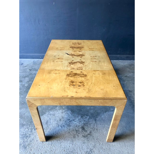 Brown Milo Baughman Parsons Dining Table For Sale - Image 8 of 9