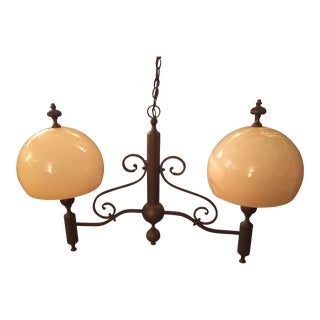 Vintage used brown chandeliers chairish vintage ethan allen brass chandelier aloadofball Gallery