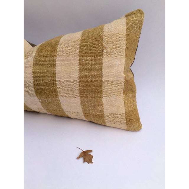 Mustard Buffalo Check Plaid Kilim Pillow Cover - Image 3 of 6