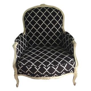 Vintage Bergere Chair in Lulu DK's Chant Fabric