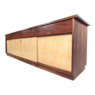 Mid-Century Modern Rosewood Office Credenza For Sale
