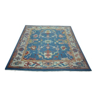 Turkish Anatolian Modern & Decorative Oushak Rug - 7′9″ × 8′1″