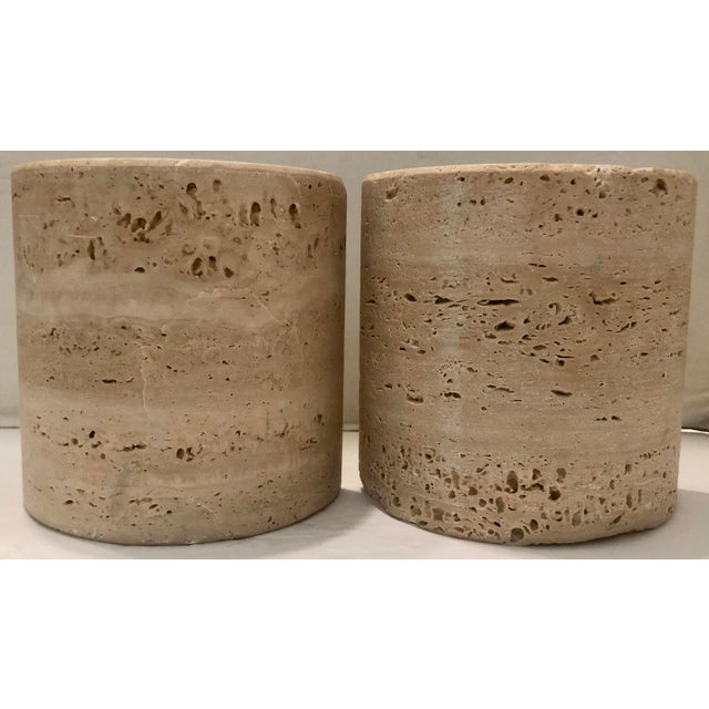 1970s Italian Travertine Bookends For Sale - Image 5 of 7
