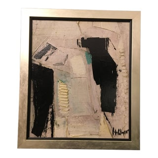 1960s Vintage Abstract Painting by Graham Harmon For Sale