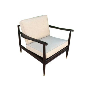 Mid-Century Modern White Armchair For Sale
