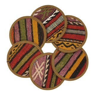 Kilim Coasters Set of 6 - Mastave For Sale